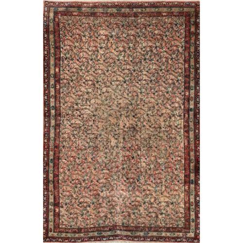 4x6 Antique Persian Mahal Area Rug - 501559