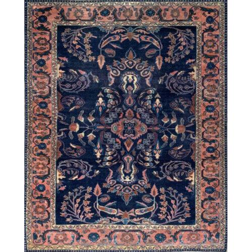 5x6 Antique Persian Lilihan Area Rug - 501560