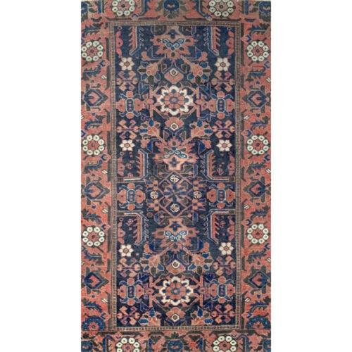 3x6 Antique Persian Heriz Area Rug - 501564