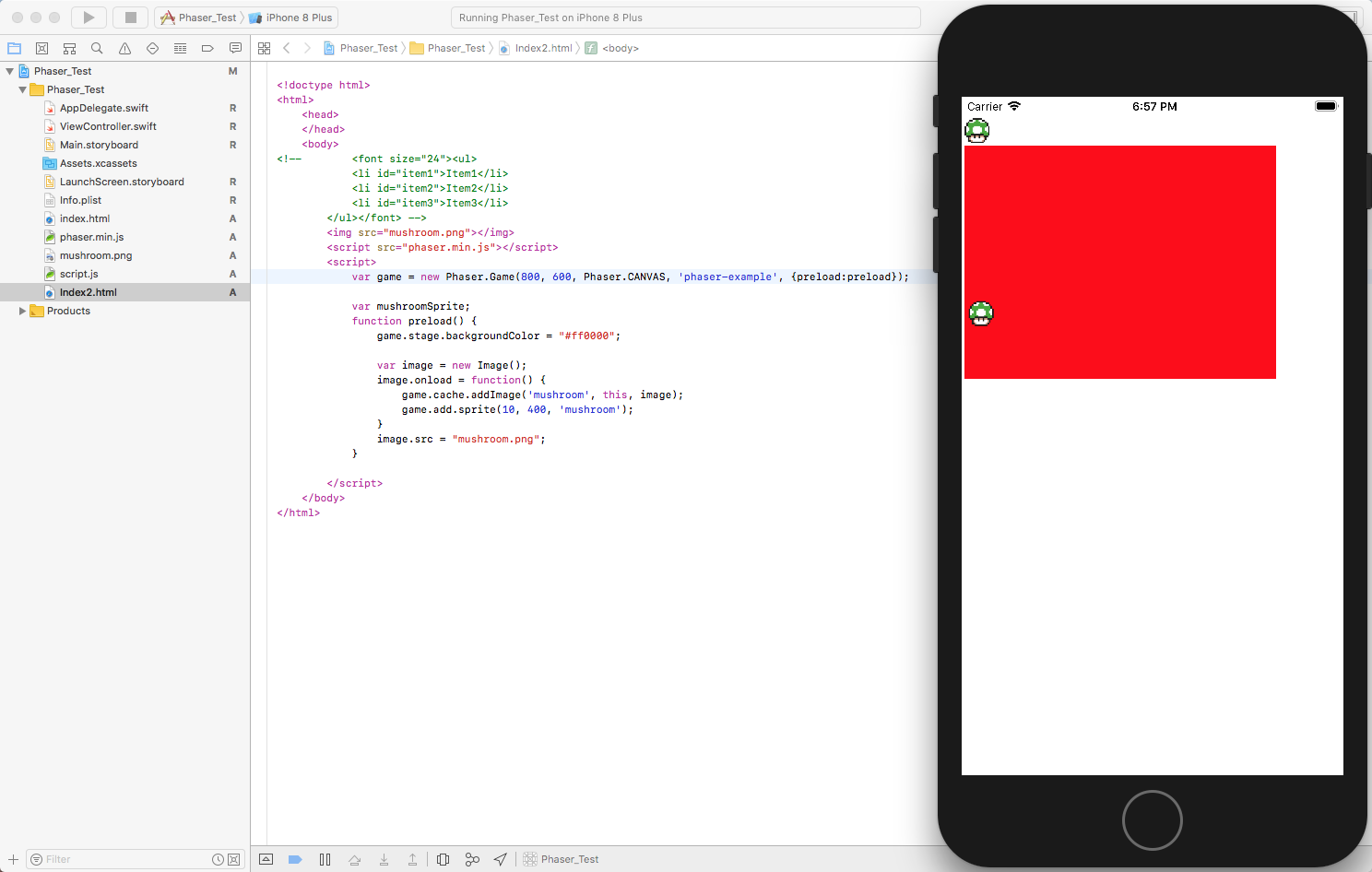 Adding an image to the canvas in Phaser - now we're getting close!
