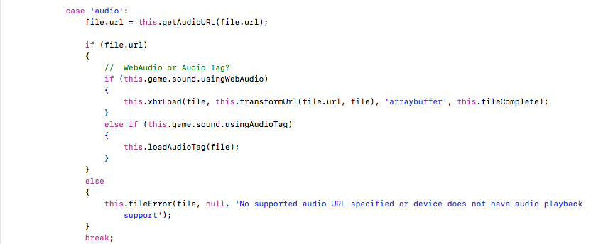 Use Web Audio or HTML5 <audio> tags?