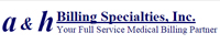 Website for A&H Billing Specialties, Inc.