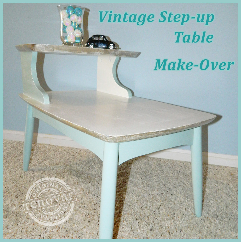 Vintage Metal Film Edged End Table