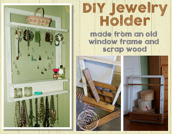 How to make a jewelry holder from scrap wood 1