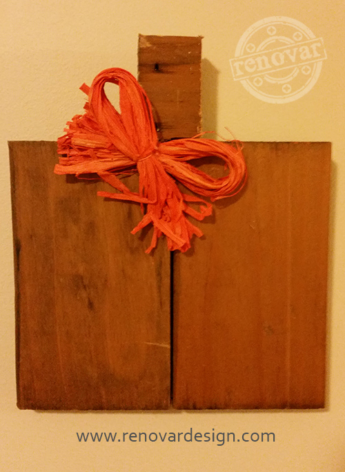DIY Pumpkin Craft Made From Strap Wood - One