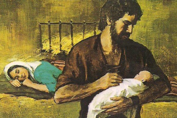 Holy Family With Joseph Holding Infant Jesus 1