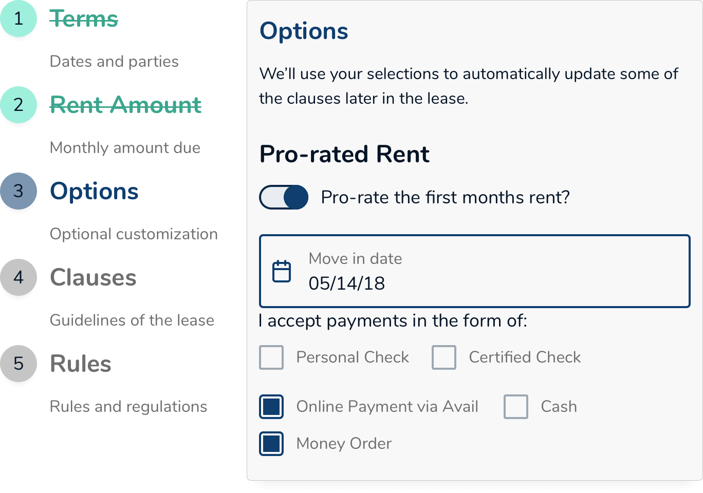 Online Rental Lease Agreements State Lease Templates Avail