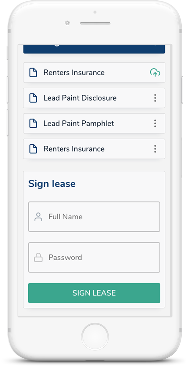 Signing a lease has never been easier. A few clicks and you're done.