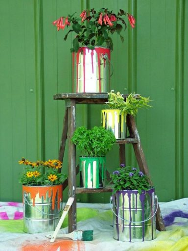 DIY Paint Can Planter