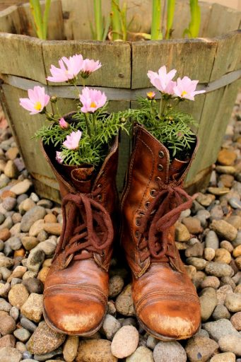 Old Boot Flower Pots