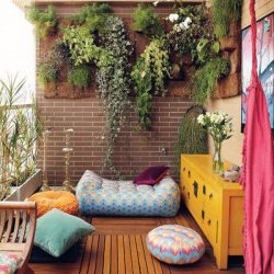 Balcony Garden with Furniture
