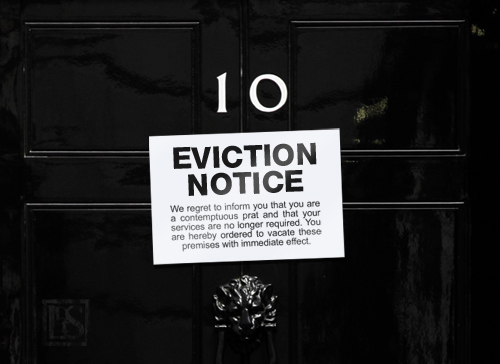 Eviction notices must pass through your local court system.