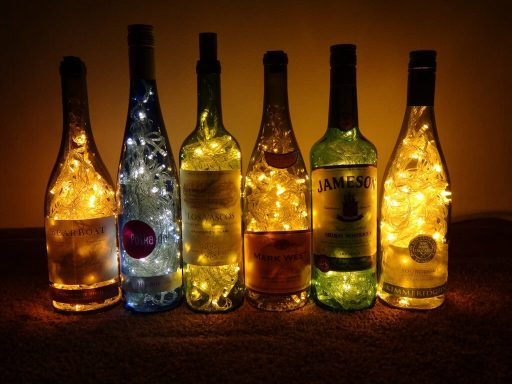 Wine Bottle Ambient Lighting