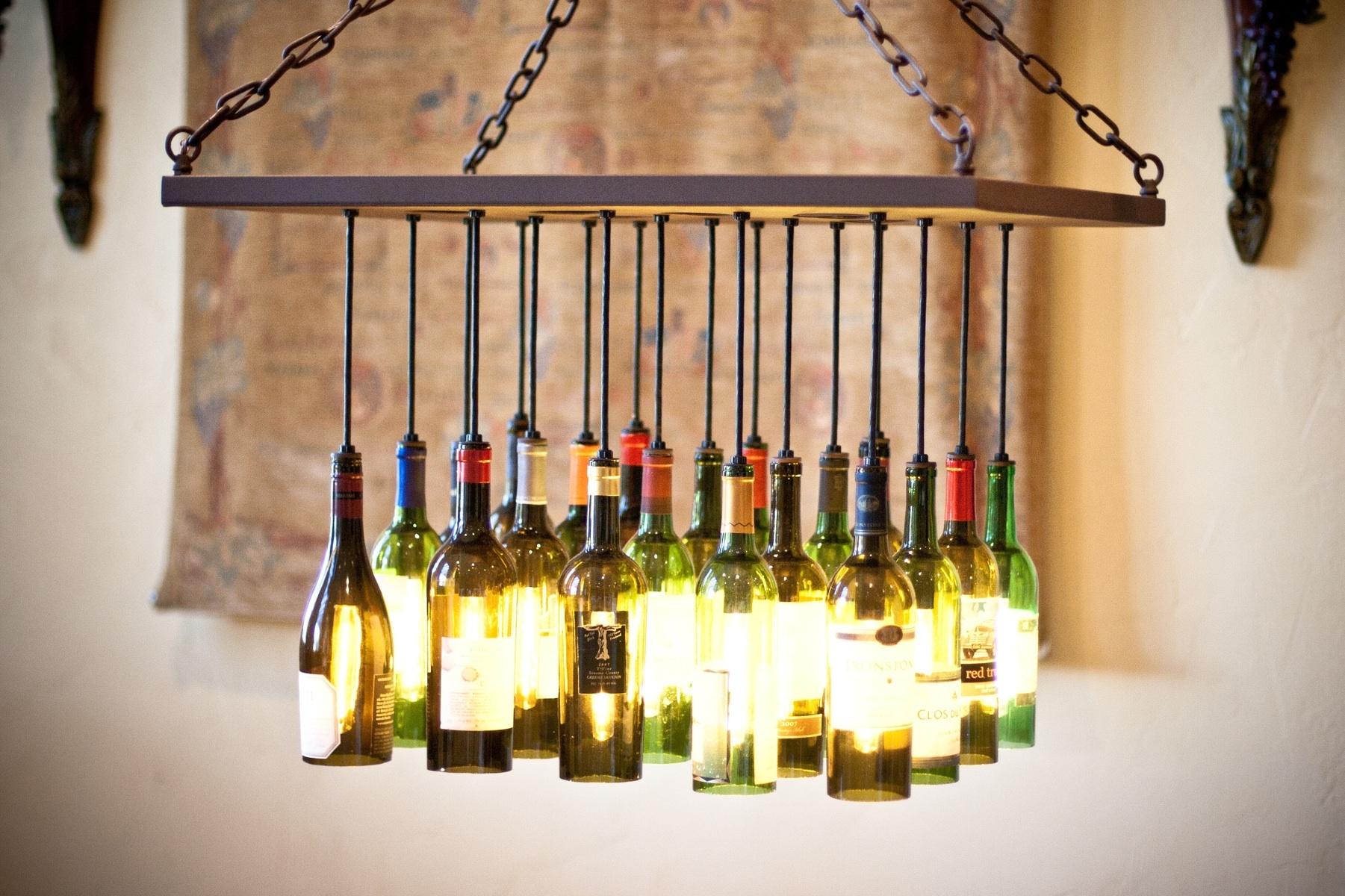 Making Wine Bottle Lights Bottle Light Fixture Gallery Home Fixtures Decoration Ideas