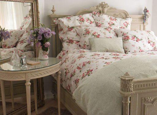 Rose Print Shabby Chic Bedroom