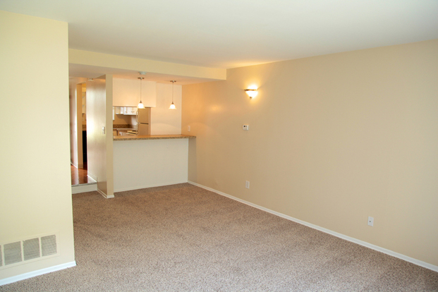 Roomy open floor plan in Village West apartment