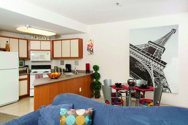 Roomy and bright Stadium View apartment with welcoming open layout