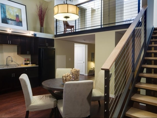 Cool loft layout of a 430 Oak Grove Apartment