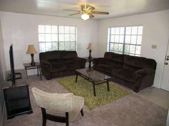 Great living space at the Woodsman!