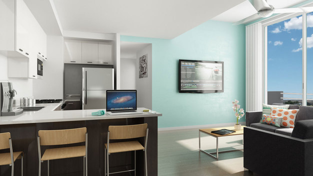 Modern Social 28 apartment with great kitchen and breakfast bar
