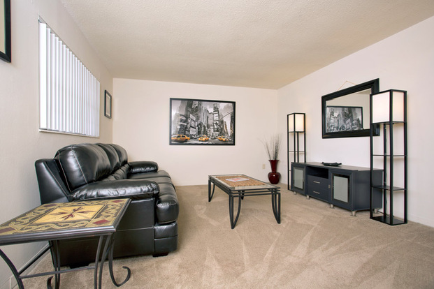 Clean and lovely Spanish Trace living room