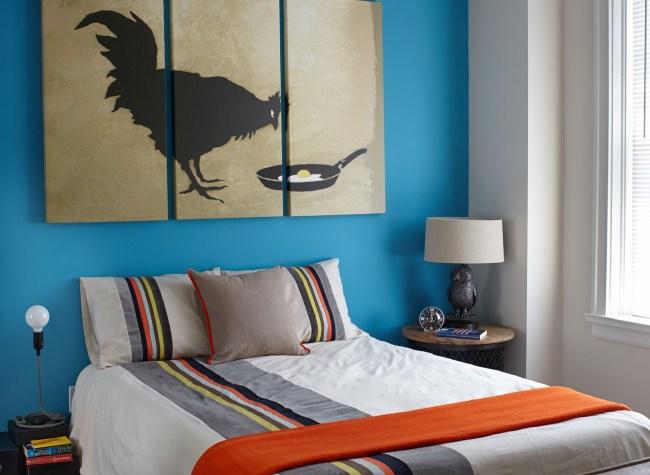 Colorful Bellerive bedroom with huge windows & plentiful natural light