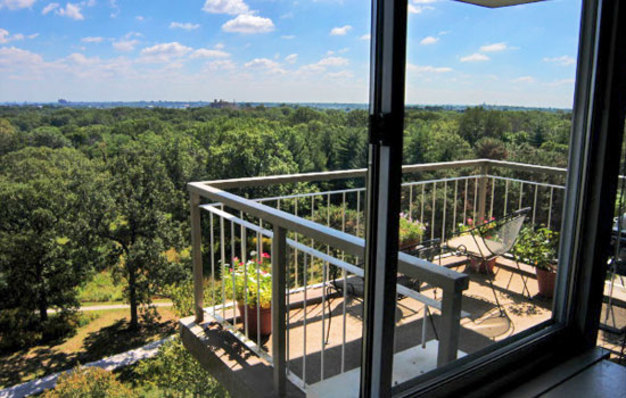 Beautiful views from a Dorchester on Forest Park balcony
