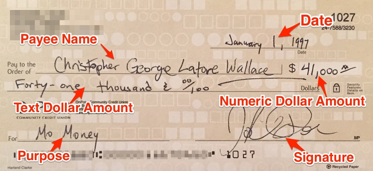 How To Write A Check The Dummies Guide To 1st Century Technology - Pay-to-the-order-of