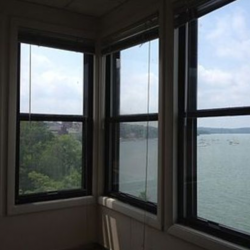 Lake view from inside Mendota Lakeshore apartment