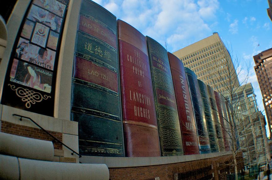Giant Kansas City bookshelf