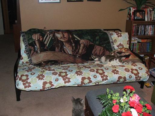 an ugly futon