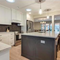 Large bright-white kitchen