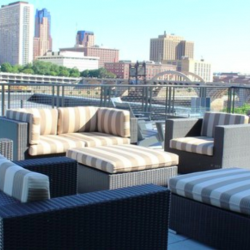 These St. Paul apartments for rent are right on the Mississippi River