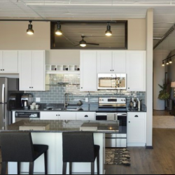 Kitchens come in light and dark finishes