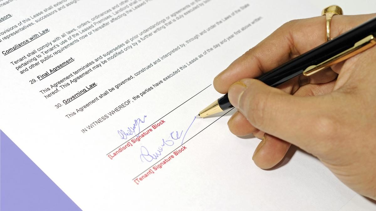 Signing Your Lease