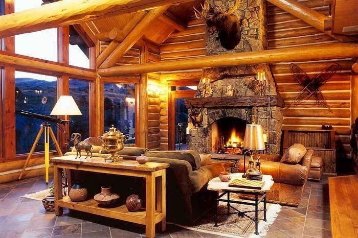 Fotos: Prev Next Format_3_2_co United States Luxury Log Home Great Room.  Great Room · Luxury Log Home!