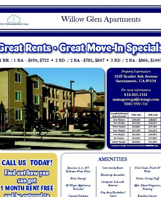 Willow Glen Apartments: Willow Glen, Sacramento. Apartment Details, Comments And