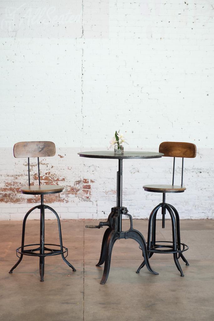 Crank Bar Tables Patina