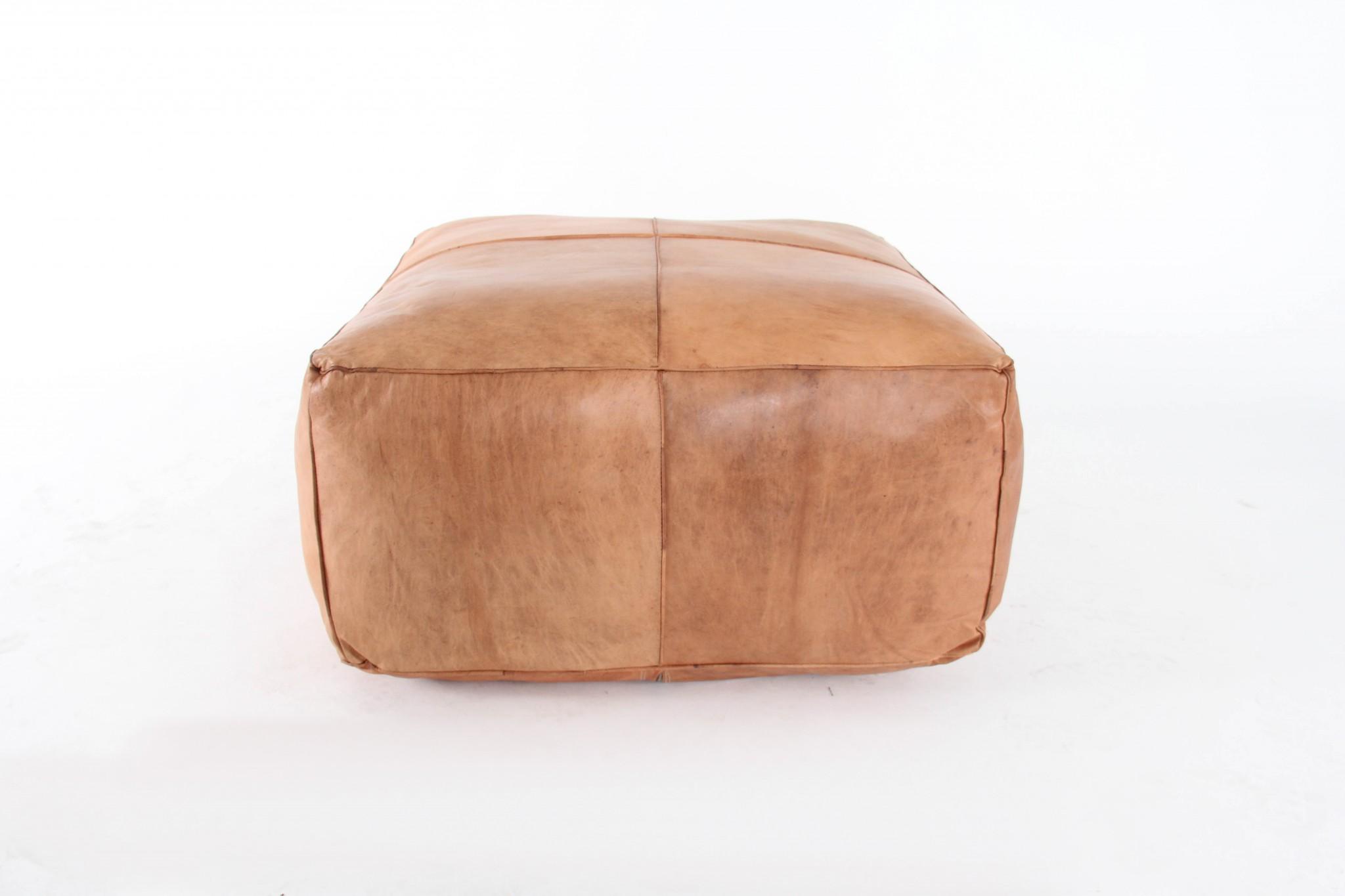Pleasant Big Effin Leather Ottoman Patina Creativecarmelina Interior Chair Design Creativecarmelinacom