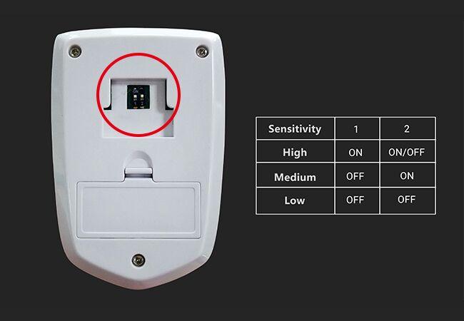 PIR Sensor Sensitivity