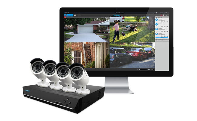 PoE Bullet Security Camera System