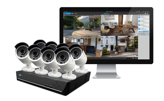 home alarm systems with cameras top 2 picks no monthly fees with videos reolink blog. Black Bedroom Furniture Sets. Home Design Ideas
