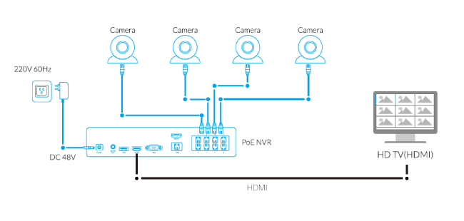 DVR/NVR to TV Connection