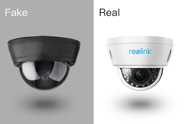 Fake and Real Security Cameras