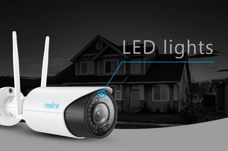 Security Camera with LED Lights