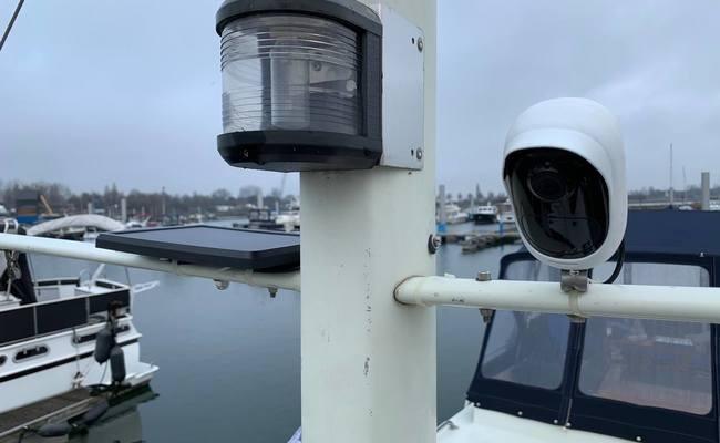 Off Grid Solar Powered Security On Yacht