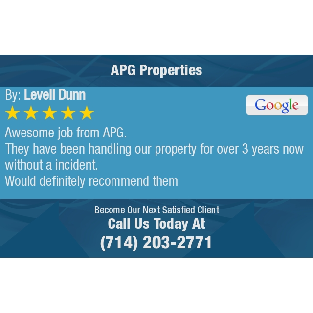 Awesome job from APG. They have been handling our property