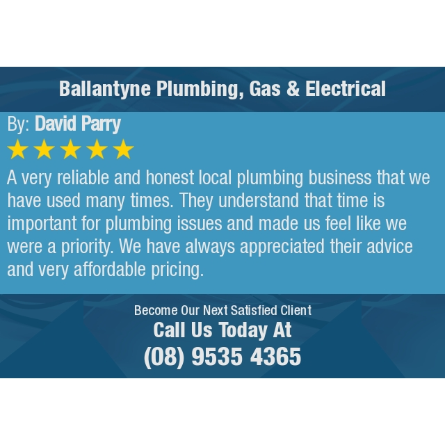 A very reliable and honest local plumbing business that we