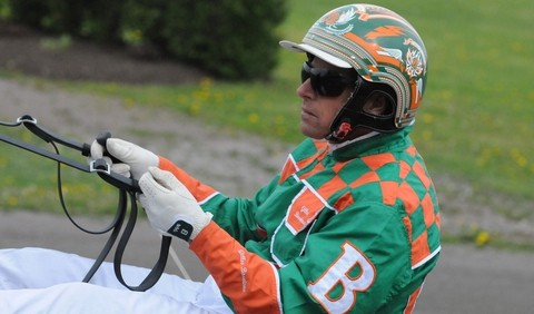 Dieppe native Gilles Barrieau placed second victory in the Gold Cup and Saucer at the Charlottetown Driving Park on Saturday.