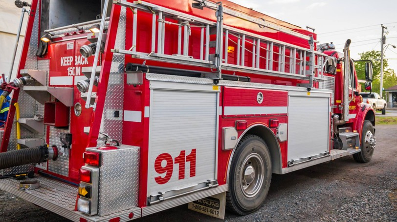 Firefighters from Elgin and Riverview rescued a woman who fell off a cliff in Gibson Falls on Wednesday.